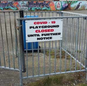 Play ground closed due to Covid 19